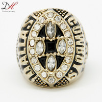 Wholesale Daihe Fashion Sport Jewelry Super Bowl Dallas Championship Ring Gold Plated World Series Crystal Rings For Men High Quality