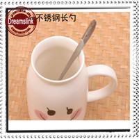 Wholesale Quality stainless steel ice key swizzle stick milk tea mixing spoon flower tea long spoon cm cm