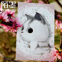 Cheap Mo tin Card genuine boxed magazine cute cat postcards 30 pcs set greeting card Birthday Card gift card Free Shipping