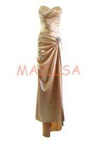 Cheap Maillsa Satin Sweetheart Prom Dress Evening Dress Formal Dress with Brooch