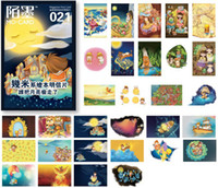 Wholesale Who stole the moon box postcard Collectible Collection Album Gift set Greet card
