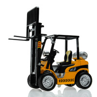 Wholesale Alloy car model forklift crane plain WARRIOR friction car toy car gift baby toy