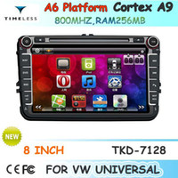Wholesale OEM for VW universal VW Passat B6 GOLF Car DVD Player With GPS Navigation free Map Radio AM FM Stereo System Bluetooth