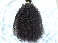Wholesale brazilian human hair extensions pieces with clips clip in hair kinky curly hair style dark brown natural black color