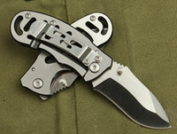 De la gota del envío Pequeño BOKER cuchillo plegable de bolsillo 768 la supervivencia que acampa plegable de la manija del cuchillo de acero lleno de cuchillos Regalo herramientas al aire libre