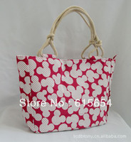 Wholesale Large Fashion Women Shoulder Bag Red Mickey Canvas Handbags Beach Makeup Party Tote bags cm