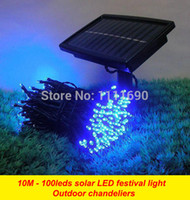 Wholesale Outdoor Solar panel Powered Light M LED automatic Garden waterproof Christmas Party String Fairy Decoration Lamp