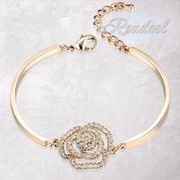 Wholesale Readeel Fashion Brand Jewelry Austrian Crystal Diamond Bracelet Bangles Women K gold plated Bangles Design K Gold Bangles