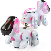 Wholesale New Electronic Music Robot Dogs Lovely Electronic Children Red Walking Pet Dog Puppy Kids Toy With Music Light Z
