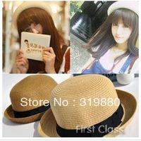 Wholesale New Fashionable unisex Fedora Straw Hat Cap Sunhat Beach