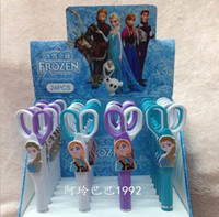 Wholesale 2014 New Frozen Pen Scissors Children Study Office Stationery Princess Elsa Anna Children Study Office Stationery Autopen Scissors