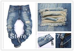 Wholesale KPDSQ0831 Italian Famous Brand D2 Jeans Men Fashion Ripped Jeans For Men Dark Color Cotton Denim True Jeans Men