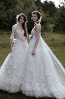 Wholesale New Beautiful fashion A Line Wedding Dresses New Style Sweet Elegant Givlie Princess Short Trailing Bridal Gowns Tube Top Customise