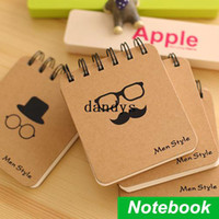 Wholesale Portable spiral Notebook Men style cover diary book Vintage softcover Coil notepad stationery office School supplies dandys