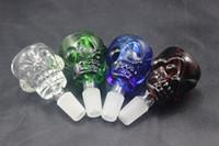 hand blown glass - Hand blown mm mm skull bowl glass bong bowls mm thick colors for percolators ash catcher