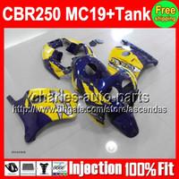 7gifts+ Tank For HONDA Factory blue CBR250RR MC19 CBR250 RR 9...
