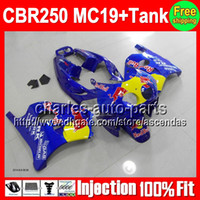 7gifts+ Tank For HONDA CBR250RR MC19 CBR250 RR Blue yellow 9#...