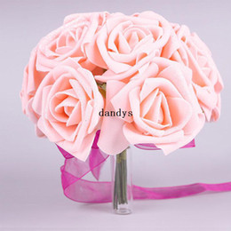 Hot One Bouquet Beautiful Wedding Decor Foam Rose Shape Bridal Bridesmaid Flower #49729, dandys