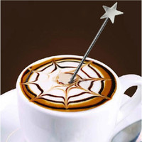 Wholesale New Stainless Steel Star Coffee Latte Art Decoration Pen Cafe Home Kitchen Tool