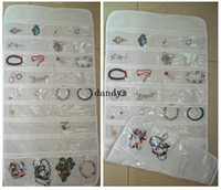 Wholesale 72 Unit Pocket Double Sided Hanging Jewelry Organizer Storage Bag Case Holder dandys