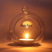 Wholesale Crystal Glass Candlestick Weeding Home Decor Hang Candle Holder Romantic Dinner dandys