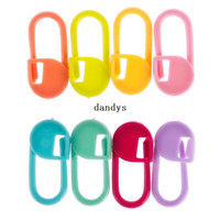 Wholesale 5 Packs Knitting Needles Locking Crochet Marker Stitch Holder Clip Craft Colourful Needle dandys