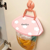 Wholesale Mini Portable Plastic Door Sink Car Garbage Sucker Trash Bag Can Rack Holder dandys