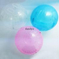 Toys White Dogs Pet Rodent Mice Hamster Gerbil Rat Jogging Play Exercise Plastic Small Ball Toy#53385, dandys