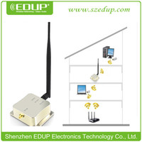 Wholesale EDUP EP AB003 Ghz W n Wireless Wifi Signal Booster Repeater Broadband Amplifiers for Wireless Router wireless adapter