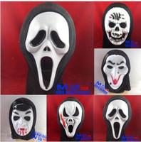 Wholesale Halloween masks Ghost masks screaming grimace monolithic horror mask Halloween Mask