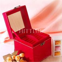Wholesale New Classic Elegant Tier Organizer Holder Jewelry Ring Necklace Storage Box Case
