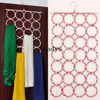 plastic hanger - Ring Rope hole Slots Holder Hook Scarf Wraps Shawl Storage Hanger Organizer dandys