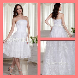 Casual Fall 2014 Knee Length Wedding Dresses cheap stunning fall free