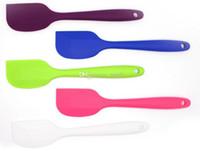 silicone spatula - Fashion Hot Wedding Candy Color Silicone Cake Spatula Batter Scraper For Snowflake Cake Tools