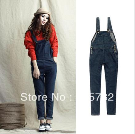 2015 Women Plus Size XL Maternity Wear Jean Overalls Loose Denim ...