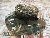 Wholesale New Unisex Outdoor Camping Cap Army Jungle Camouflage Prevented Bask Round Fishing Hat sports Hat Colors Christmas gift