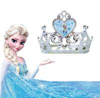Wholesale Frozen Alsa Anna Crown Tiaras snow plating resin material Crown Princess tiara accessories hair accessories Children s Hair Accessories