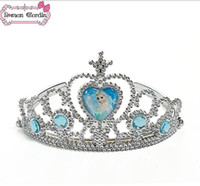 Wholesale Frozen Alsa Anna Crown Girl Tiaras snow plating resin material Crown Princess tiara Baby Girls Ice princess crown Children Hair Accessories