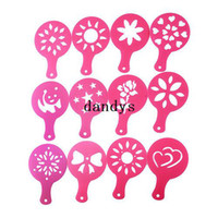 barista coffee machine - 12 Coffee Machine Barista Stencils Template Strew Pad Duster Spray Print Mold dandys