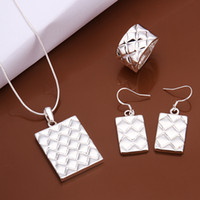 Wholesale Fruit pineapple Rings necklaces eaerings set sterling silver s454