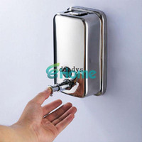 Wholesale 500ml Bathroom Lotion Pump Wall Mounted Stainless Steel Soap Shampoo Dispenser dandys