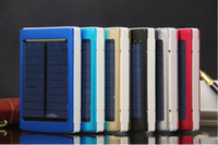 Wholesale 10 solar mobile power mAh power bank various colors for choice for Iphone Ipad MP3 MP4 camera game player etc free ship