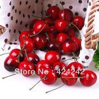 artificial fruit - New Lifelike Fake Faux Cherry Artificial Fruit Model House Kitchen Party Decor dandys