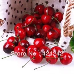 Discount Cherry Kitchen Decor New 30pcs Lifelike Fake Faux Cherry Artificial Fruit Model House Kitchen Party