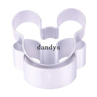 tin crafts - 5 X Mickey Shaped Mold Cookie Dessert Cake Decorating Metal Tin Baking Craft Mould dandys