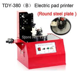 Wholesale Logo expiration code printer TDY B Desktop Electric Pad Printer round pad printing machine ink printer ink printer Round steel plate