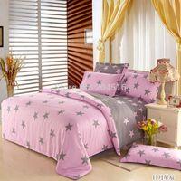 Cheap pink girls bedding set 4pcs queen size bedclothes comforter quilt duvet cover bedsheet 4pc bed Linen bedspread for 1.35-1.5m bed