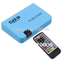 Cheap Brand New Digital TV Box LCD VGA AV Output Tuner DVB-T View Receiver free shipping wholesale # 190092