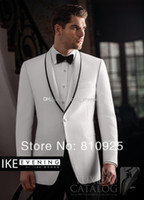 Cheap Wholesale - - custom made groom wedding suits grooms suit white and groom wear for dinner wool suits H-102