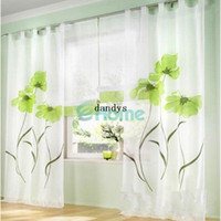 Wholesale 150 x245cm Home Decor Curtain Handmade Product Inkjet Flower Window Screen Sheer dandys